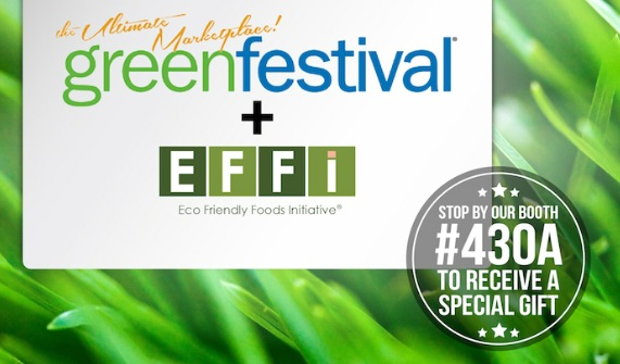 EFFi Foods will join other innovative new vegan food brands at the upcoming 4thannual Green Festival in Los Angeles
